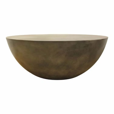 Organic Modern Gray Round Indoor/Outdoor Cocktail Table