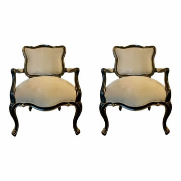 Caracole Modern the Parisian Lounge Chairs - a Pair