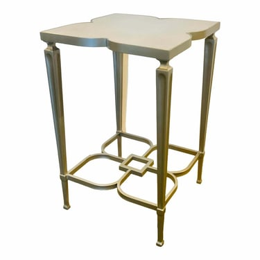 Caracole Modern Silver Leaf Finished Lucky Charm Accent Table