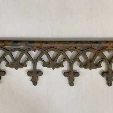 Vintage Cast Iron Pediment, Architectural Salvage Supplies, Antique Fence, Home Decor, Repurpose by luckduck