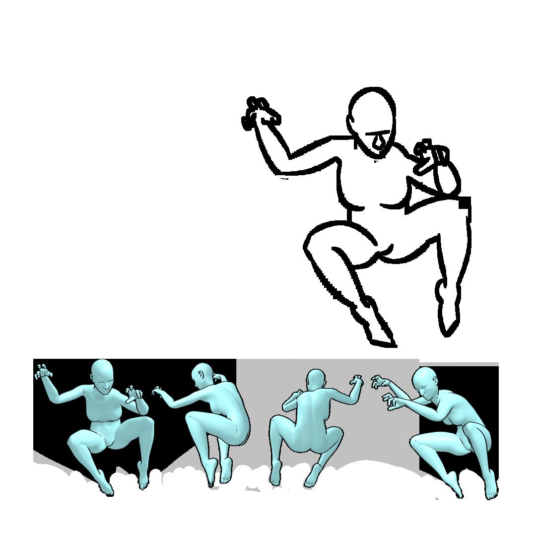 360 pose figure drawing 9