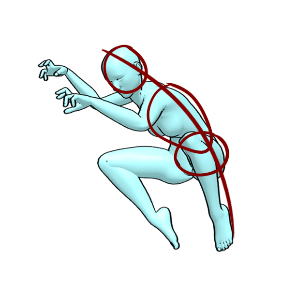 360 pose figure drawing 8