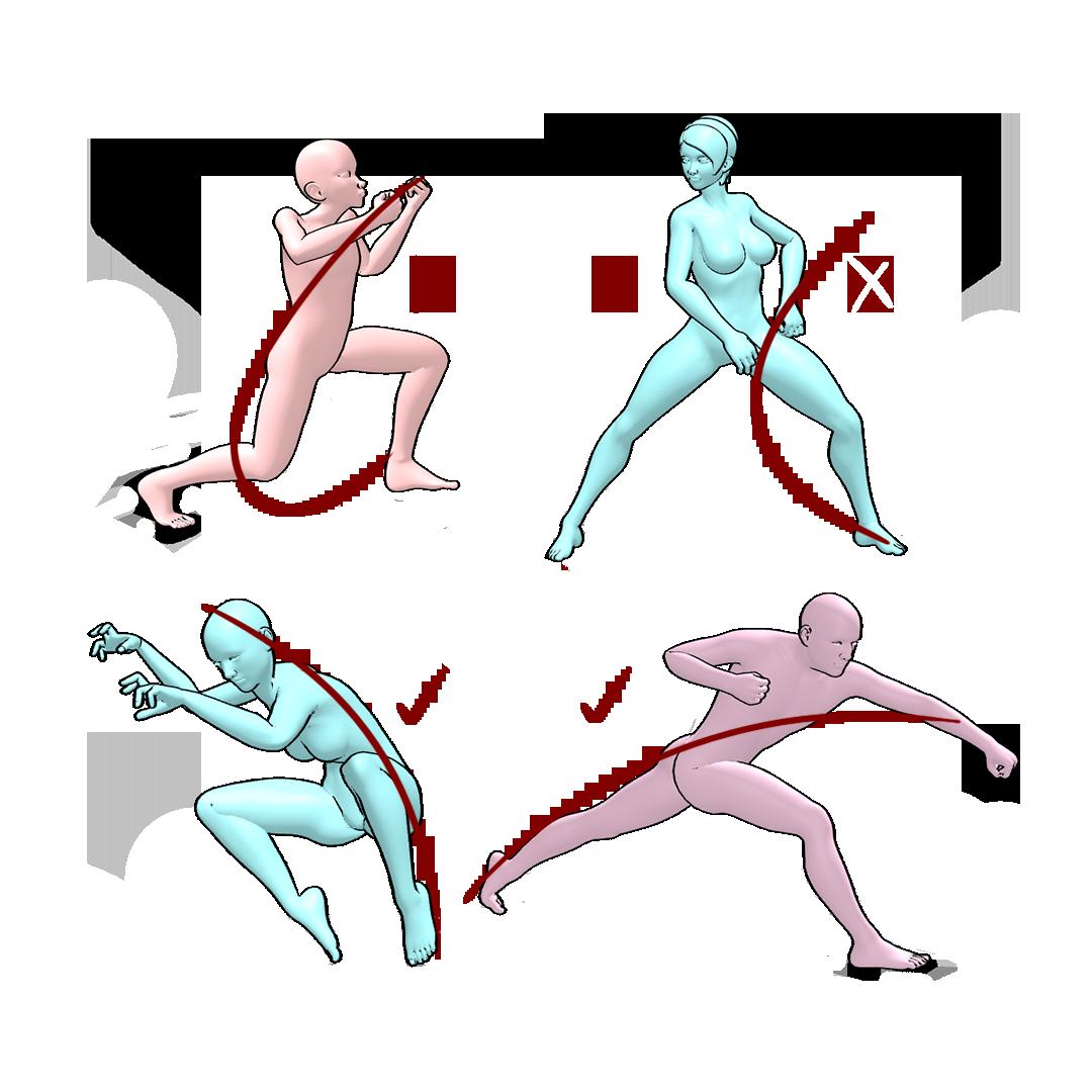 360 pose figure drawing 3