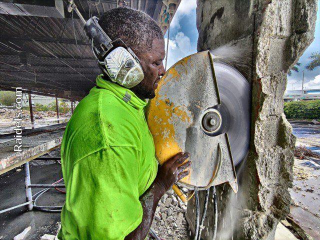 Hydraulic Concrete cutting