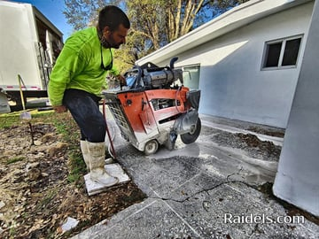 Slab Sawing in a Pinecrest residence