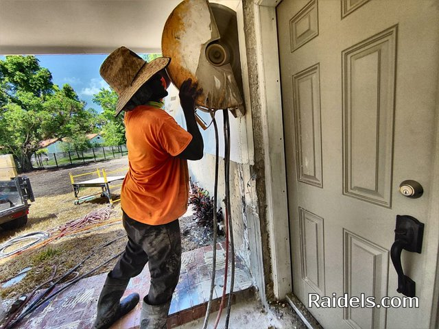 Cutting a door enlargement